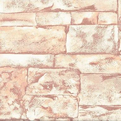 Carta da parati Mattone terracotta, 53 cm x 10 m
