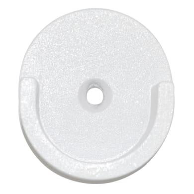 Supporto rosetta Ø28mm Modern Design in metallo bianco lucido 2cm, 2 pz INSPIRE