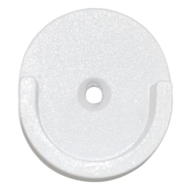 Supporto singolo aperto Ø28mm Iceberg in metallo bianco lucido, 2 pezzi