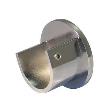 Supporto rosetta Ø25mm Tago in metallo cromo lucido 3cm, 2 pz