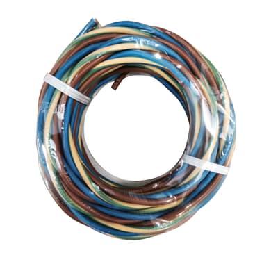 Cavo elettrico H07V-K marrone - blu - giallo/verde h07vk  3 fili x 1 mm² 25 m ELECTRALINE Matassa