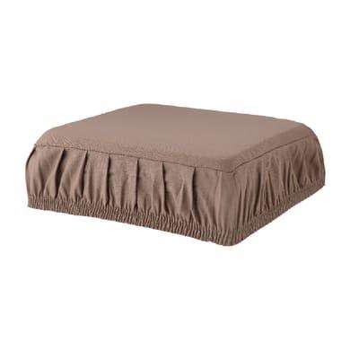 Cuscino per sedia con elastico Panama tortora 40x40 cm