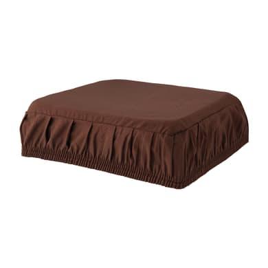 Cuscino per sedia con elastico Panama marrone 40x40 cm