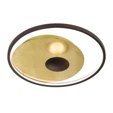 Plafoniera glamour Catania LED integrato oro, in acciaio, 60x60 cm, WOFI