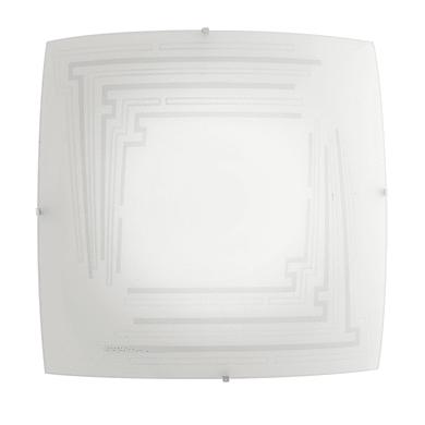 Plafoniera classico Concept bianco, in acciaio, 40x40 cm, 3  luci