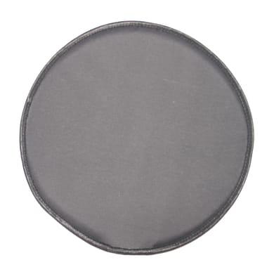Cuscino per sedia Tondo retro antiscivolo grigio 40x40 cm
