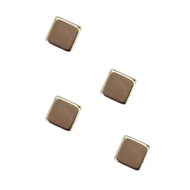 Magnete Basic cubes in metallo 4 pezzi
