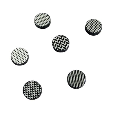 Magnete Black & white in metallo 6 pezzi