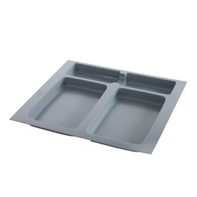 Vassoio del secchio X-PLANE 600 manuale grigio 0 L