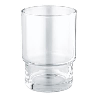 Bicchiere porta spazzolini Essentials in vetro trasparente