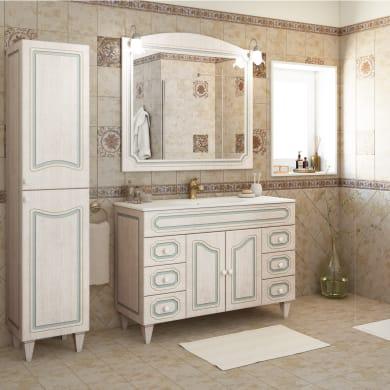 Mobile bagno Caravaggio bianco L 120 cm