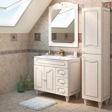 Mobile bagno Caravaggio bianco L 90 cm