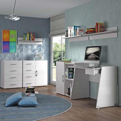 Set cassetti L 50 x H 87 x P 40 cm bianco/cemento