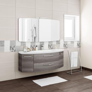 Mobile bagno Cassca grigio L 141 cm
