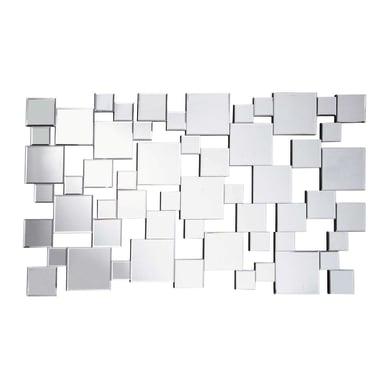Specchio a parete rettangolare Sophia argento 70x40 cm