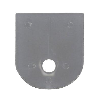 Supporto autoserrante singolo aperto Ø25mm in plastica bianco opaco1 cm, 2 pezzi