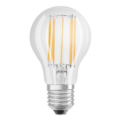 Lampadina LED filamento, E27, Goccia, Trasparente, Luce calda, 11W=1420LM (equiv 94 W), 320° , OSRAM