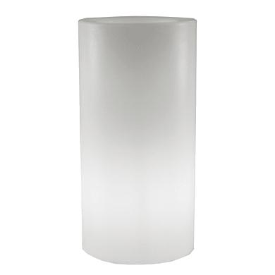Lampioncino Palma H70cm LED integrato in plastica bianco 5W 15LM IP65 NEWGARDEN