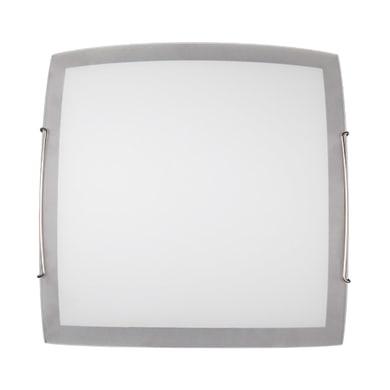 Plafoniera classico Quadra bianco, in vetro, 30x30 cm,
