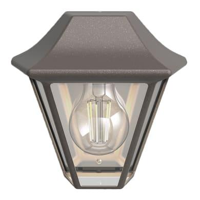 Applique CURASSOW in alluminio, grigio / argento, E27 MAX42W IP44 PHILIPS