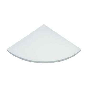 Mensola ad angolo Spaceo L 25 x P 25 cm, Sp 1.8 cm bianco
