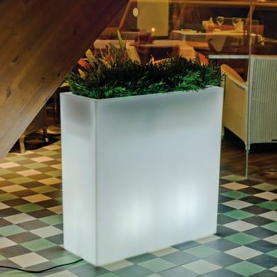Lampioncino JUNCO 80 LED RGB H80cm in plastica bianco E27 2xMAX4W IP65 NEWGARDEN