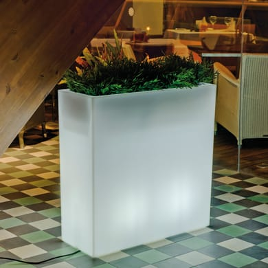 Lampada da esterno Vaso illuminato luce calda H80cm, in plastica, LED integrato 650LM IP65 NEWGARDEN