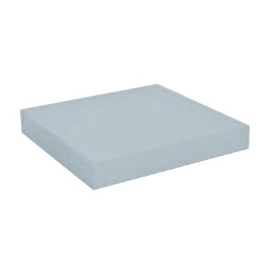 Mensola Spaceo L 23.0 x P 23.0 cm, Sp 3.8 cm bianco