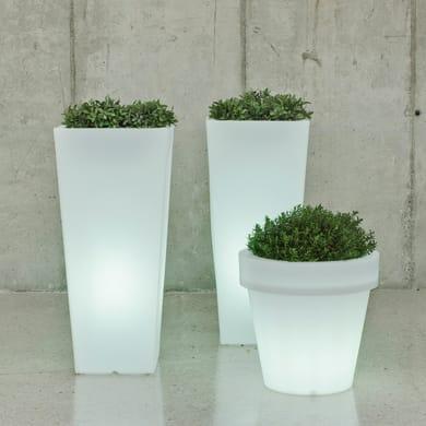 Lampada da esterno Vaso illuminato luce calda H58cm, in plastica, LED integrato 650LM IP65 NEWGARDEN