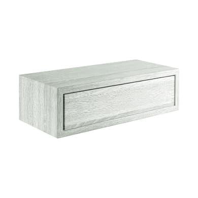 Mensola con cassetto Spaceo L 45 x P 23.7 cm, Sp 2.2 cm rovere sbiancato