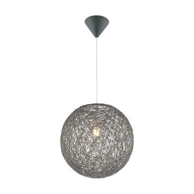 Lampadario Coropuna grigio, in carta, diam. 32 cm, E27 MAX60W IP20