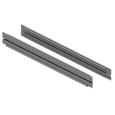Traverso in metallo Coppia di correnti L 122 x H 8 x P 2 cm grigio / argento verniciato