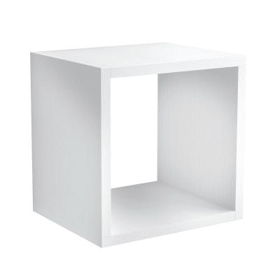 Mensola a cubo L 25 x H 30 cm, Sp 18 mm bianco