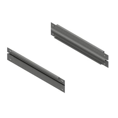 Traverso in metallo Traversa L 41 x H 3 x P 9 cm grigio / argento verniciato