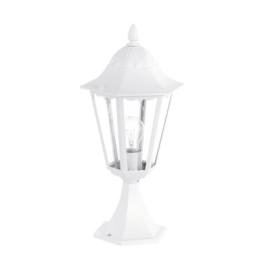 Lampioncino Navedo H47 cm in alluminio, bianco, E27 1x MAX 100W IP44 EGLO