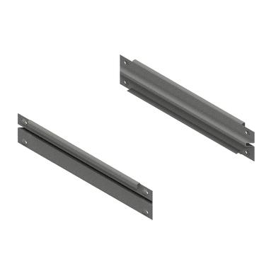 Traverso in metallo Coppia di correnti L 49 x H 8 x P 1.5 cm grigio / argento verniciato