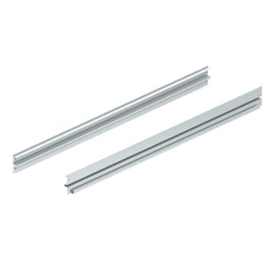Traverso in metallo M50 L 100 x H 8 x P 1.5 cm grigio / argento verniciato