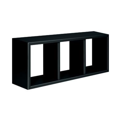 Mensola a cubo Spaceo L 70 x H 30 cm, Sp 15 mm nero