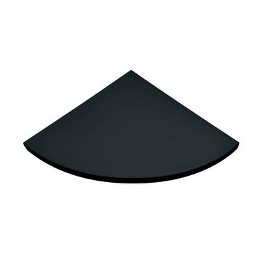 Mensola Spaceo L 25 x P 25 cm, Sp 1.8 cm nero