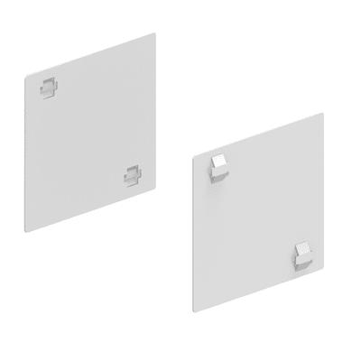 Supporto singolo in metallo per fissaggio L 9.5 x H 5 x P 0.1 cm bianco