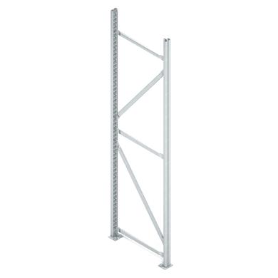 Rack metallo 55 x 195 x 5 cm grigio / argento