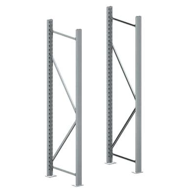 Rack metallo 70 x 195 x 70 cm grigio / argento