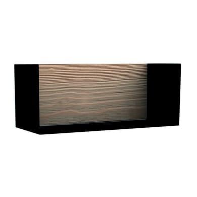 Mensola Box L 17 x P 18 cm, Sp 1.7 cm nero