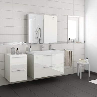 Top per lavabo SENSEA Remix L 45 x P 45 x H 1.8 cm tartufo legno ed effetto legno