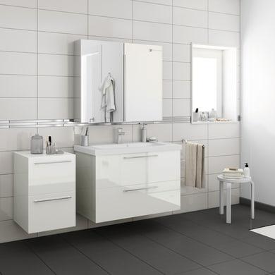 Top per lavabo SENSEA Remix L 45 x P 33 x H 1.8 cm tartufo legno ed effetto legno