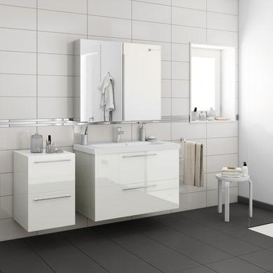Top per lavabo SENSEA Remix L 45 x P 46 x H 1.8 cm bianco lucido