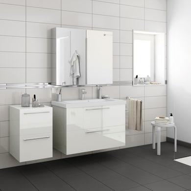 Top per lavabo SENSEA Remix L 45 x P 46 x H 1.8 cm tartufo legno ed effetto legno