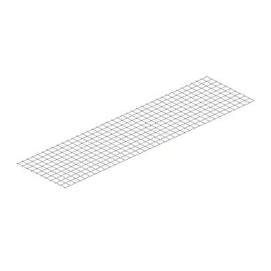 Ripiano in metallo M70 L 200 x H 1 x P 70 cm grigio