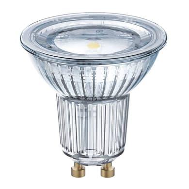 Lampadina LED, GU10, Faretto, Trasparente, Luce calda, 8W=575LM (equiv 80 W), 120° , OSRAM