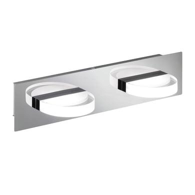 Applique moderno Estera LED integrato cromo, in metallo, 10x10 cm, 2 luci WOFI